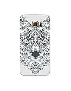 Samsung Galaxy S6 Hand-drawn-ethnic-wolf-design-01 Mobile Case (Limited Time Offers,Please Check the Details Below)
