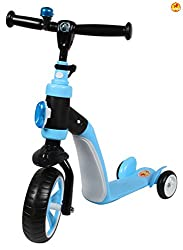 Baybee Torpedo Scoot N Ride 2 in 1 Skate Scooter (Blue)