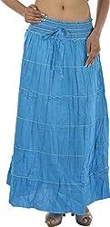 HotShot Women's Cotton Skirt (RH005, Blue, X-Large)