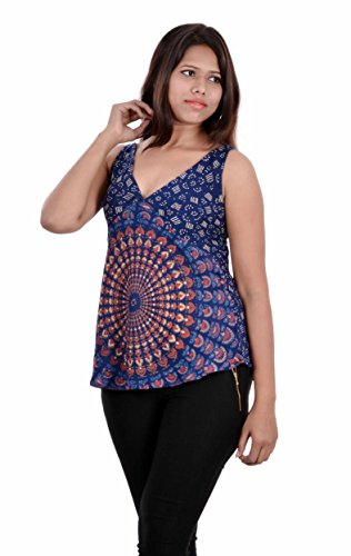 Indi Bargain Rayon Mandala Hand Block Soft Rayon Beachwear Top
