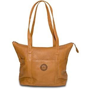 MLB Seattle Mariners Tan Leather Ladies Tote by Pangea Brands