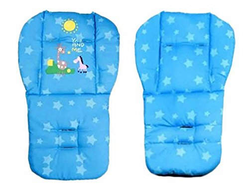 Blue Color Baby Stroller Mat Cotton Cartoon Animal Printed Chair Seat Cushion Pad Soft Cushion Car Seat Thick Padding 0-36 Months (Combi Car Seat Canopy compare prices)
