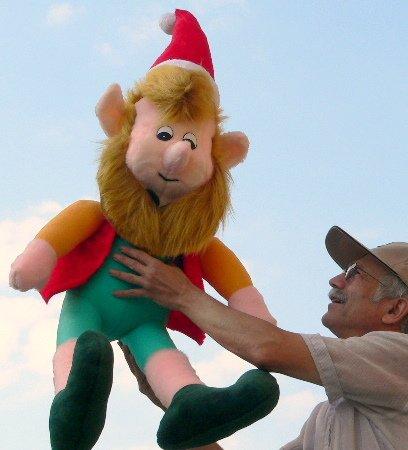 Giant Stuffed Elf