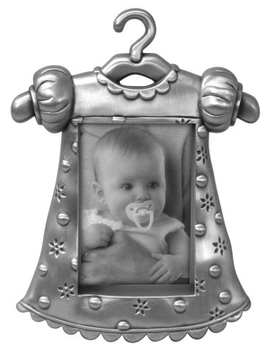 Malden Baby Pewter Juvenile Picture Frame, Girl's Outfit