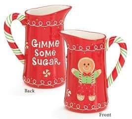 Gingerbread Man Water/Tea Pitcher Delightful Holiday Serveware