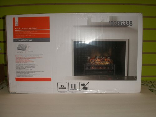 Electric Log Insert With Heater #0386388 Brand New Box.