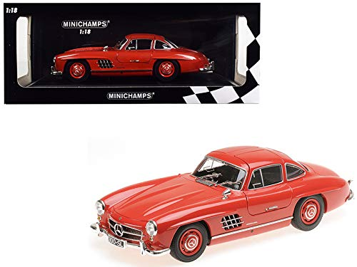Minichamps 110037211 1:18 1955 Mercedes-Benz 300 SL (W198) - Red (Color: Red)