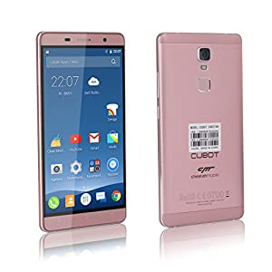 Cubot Cheetah Mobile 5.5 Inch Android 6.0 OS Octa Core 4G LTE FDD Unlocked Smartphone(3G Ram,32G Rom,Fingerprint Scan,All Metal Body,FHD Display,Dual Camera,Free Sim,Dual Sim Dual Standy,GPS,Gyroscope) (Rose Gold)
