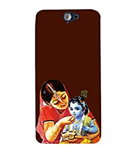 ifasho Designer Phone Back Case Cover HTC One A9 ( Owl Art Face Tattoo )