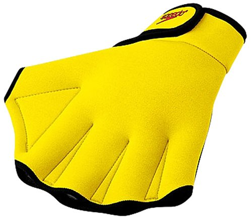 Speedo Swimming Aqua Fit Training-Exercise Swim Gloves Medium UV Yellow