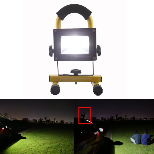 Gadgetzone(Us Seller) Waterproof 120 Degree 10W Led Rechargeable Flood Light Floodlight Emergency Lamp Bulb Portable Camping Lamp