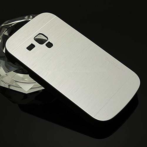 Motomo Premium Brushed Full Metal Protective Hard Back Case Cover For Samsung Galaxy S3 Mini - Silver  available at amazon for Rs.249