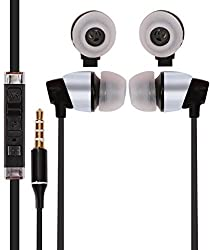JIYANSHI stylish earphone black Compatible with Microsoft Lumia 535