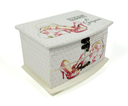Sophia Vintage Shabby Chic Jewellery Box Lid & Drawer - Elegant and Gorgeous