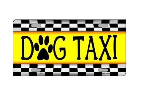 Dog Taxi Novelty Vanity License Plate Tag Sign (Dog Taxi License Plate compare prices)