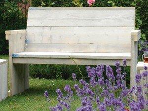 Bauholz Möbel Bank Gahalia aus Original – Bauholz 120cm für 2 Pers bestellen