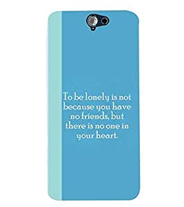 Fuson Premium Being Lonely Printed Hard Plastic Back Case Cover for HTC ONE A9