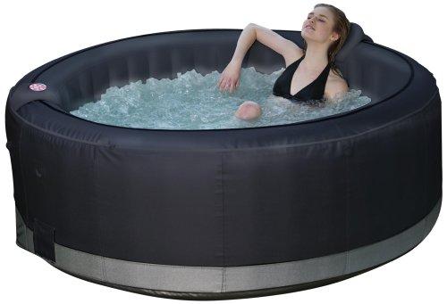 sports et loisirs o 39 spazia spa gonflable rond luxe pour 6 personnes noir 1000 l on sale. Black Bedroom Furniture Sets. Home Design Ideas