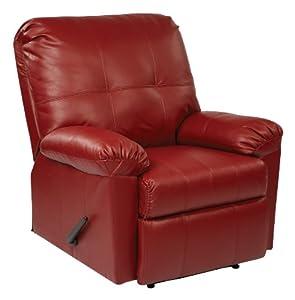 OSP Designs Kensington Recliner Chair, Red