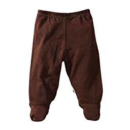 Babysoy Baby Boys\' Footie Pants -Chocolate - 3-6 Months