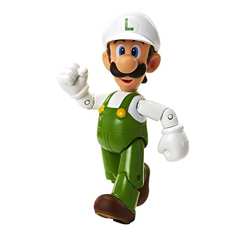 "World of Nintendo 91439 4"" Fire Luigi with Fire Flower Action Figure"