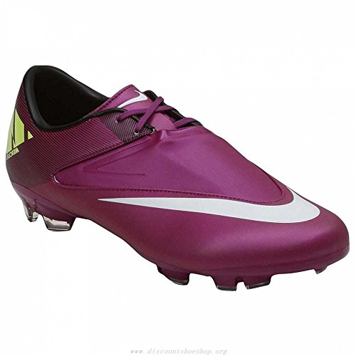 NIKE MERCURIAL GLIDE II FG SOCCER CLEATS (RED PLUM/WINDCHILL/VOLT/BLACK) (10.5) (Mercurial Vapor Red compare prices)