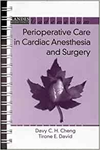 adult cardiac care in manual perioperative surgery