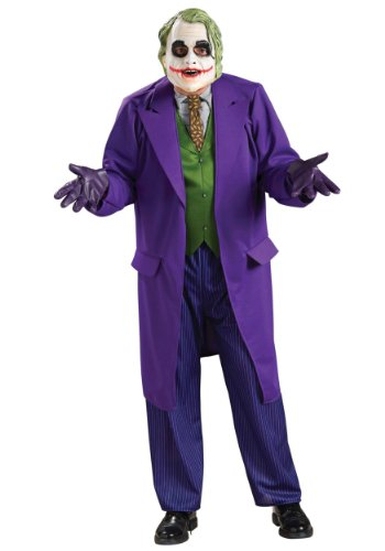 Rubies Mens Deluxe Batman Arkham City Joker Halloween Super Villain Costume