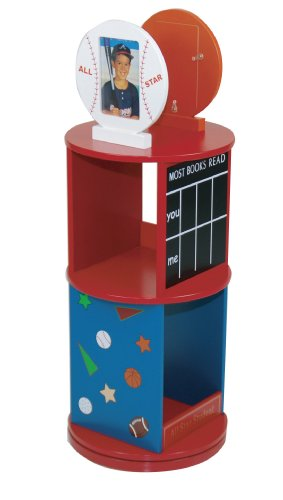 Levels Of Discovery All Star Sports Revolving Bookcase Red/Multi