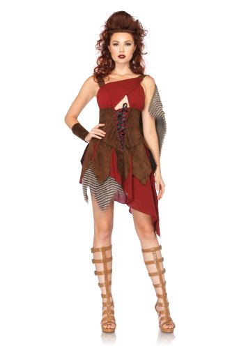 Leg Avenue Costumes 3Pc.Deadly Huntressdress Wrist Cuffs and Head Piece