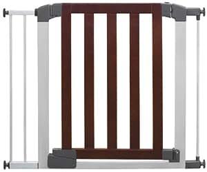 Munchkin Auto-Close Designer Safety Gate, Dark Wood