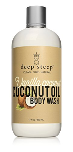 Deep Steep Coconut Oil Body Wash, Vanilla, 17 Fluid Ounce Body Coconut Vanilla Bath