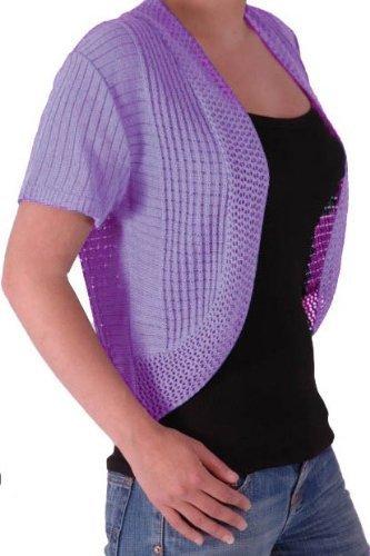 EyeCatchClothing - Olivia Crochet Knit Shrug Cardigan Bolero in Sizes