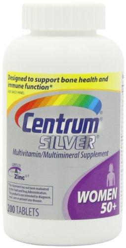 Centrum Silver Multivitamin Supplement, Women, 200 Count
