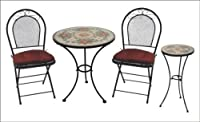 DC America MAB186, Charleston Wrought Iron 3-Piece Bistro Set by DC America