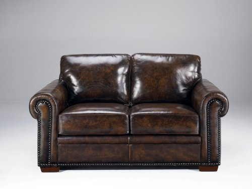Picture of Ashley Furniture Bancroft - Vintage Leather Loveseat by Ashley Furniture (B0041SKTCG) (Sofas & Loveseats)