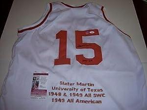 Autographed Slater Martin Jersey - Texas Longhorns hof Jsa coa - Autographed NBA... by Sports+Memorabilia