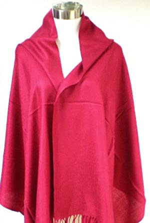 Premium Pashmina Shawl Wrap Scarf - Wine Red
