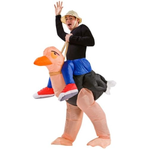 Ace Halloween Adult Inflatable Funny Suit Ostrich Riding Costumes