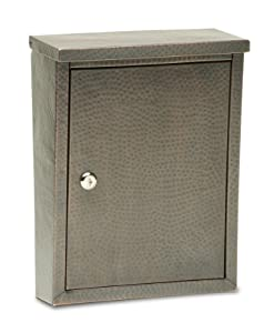 Architectural Mailboxes 2582DCH Laguna Wall Mount Locking Mailbox, Dark Aged Copper Hammered