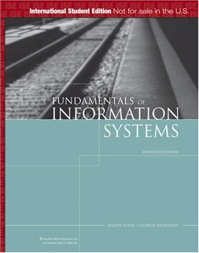 Fundementals of Information Systems: A Managerial Approach
