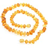 Raw Amber Teething Necklace Adults Size for Mom Teething Nursing Necklace Certified Genuine Baltic Amber