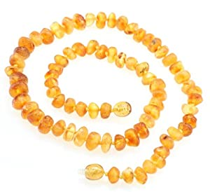 Mom Teething Necklace / Nursing Necklace - Genuine Baltic Raw Amber