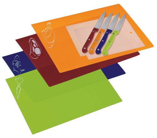 Prepworks from Progressive International PCC-1000CB  Ten Piece Chopping Mat and Knife Set