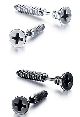 ostan-2-pairs-earrings-studs-set-stainless-steel-vintage-punk-style-plug-tunnel-mens-earrings