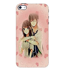 PrintDhaba Couple D-5428 Back Case Cover for APPLE IPHONE 4S (Multi-Coloured)