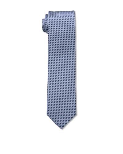 Ermenegildo Zegna Men's Checked Tie, Blue