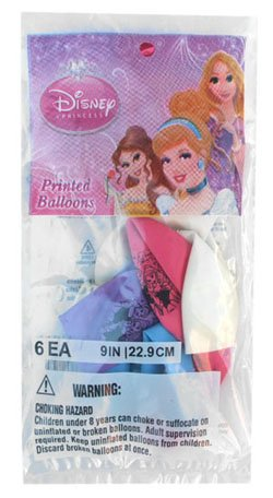 Disney Princess 6pc balloon ( rubber balloon ) 9007 [ Rapunzel Cinderella Toy Character Goods ] - 1