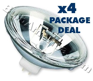 4 pcs. Osram 300w Par 56 Narrow Spot (NSP) Bulbs Package Deal
