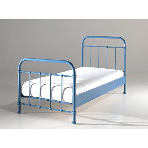 Vipack NYBE9007 New York Lit Métal Bleu 210 x 95 x 10 cm